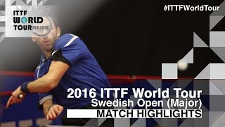 【動画】ドミトリ・オフチャロフ VS モンテイロ 2016年スウェーデン・オープン ベスト16