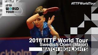 【動画】スッチ VS CHOI Hyojoo 2016年スウェーデン・オープン 準々決勝