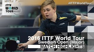 【動画】トルルス・モアガド VS LAMADRID Juan 2016年スウェーデン・オープン