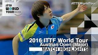 【動画】カルデラノ VS 松平健太 2016年Hybiomeオーストリアオープン 決勝