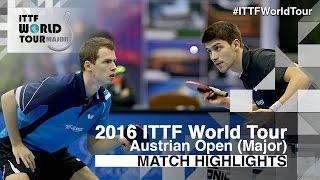 【動画】FANG Yinchi・ZHU Cheng VS パトリック・フランチスカ・グロート・ジョナサン 2016年Hybiomeオーストリアオープン 決勝
