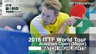 【動画】ステファン・フェゲル VS フィルス 2016年Hybiomeオーストリアオープン ベスト32