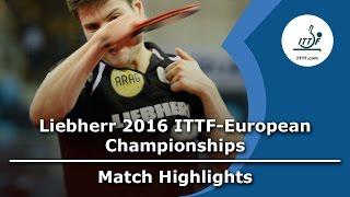 【動画】ドミトリ・オフチャロフ VS DURAN Marc LIEBHERR 2016年ITTFヨーロッパ卓球選手権 ベスト64