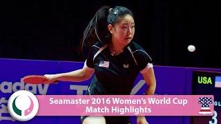 【動画】ZHANG Lily VS チェン・イーチン 2016シーマスター女子ワールドカップ ベスト16