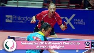 【動画】伊藤美誠 VS POLCANOVA Sofia 2016シーマスター女子ワールドカップ ベスト16