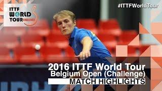 【動画】ANDERSSON Harald VS ガナナセカラン 2016年ベルギーオープン 準決勝