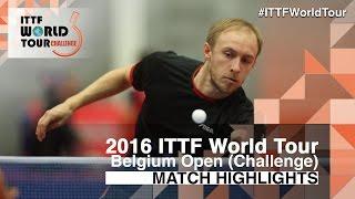 【動画】NUYTINCK Cedric VS BRODD Viktor 2016年ベルギーオープン ベスト32