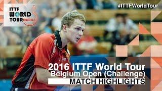 【動画】DUDA Benedikt VS オーケストロム 2016年ベルギーオープン ベスト32