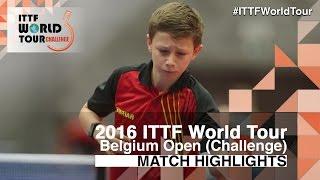 【動画】LAI Chi-Chien VS KOSOLOSKY Olav 2016年ベルギーオープン