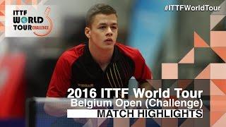 【動画】DARCIS Thibaut VS SCHMID Elia 2016年ベルギーオープン