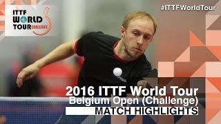 【動画】BRODD Viktor VS HU Heming 2016年ベルギーオープン