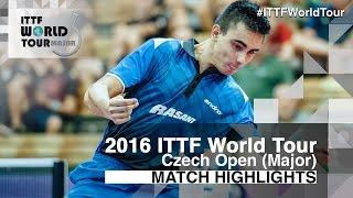 【動画】KARAKASEVIC Aleksandar VS ステファン・ウォシュ 2016年チェコオープン 準決勝