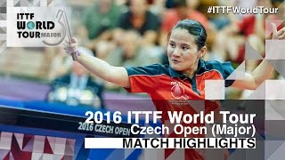 【動画】EKHOLM Matilda VS YANG Xiaoxin 2016年チェコオープン 準決勝