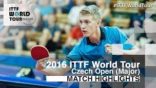 【動画】KALLBERG Anton VS ステファン・ウォシュ 2016年チェコオープン 準々決勝