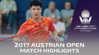 【動画】薛飛 VS KOBES Kristian 2017シマスター2017 プラチナ、オーストリアオープン