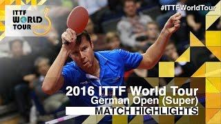 【動画】ボル VS サムソノフ 2016年ドイツオープン準々決勝