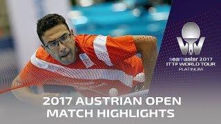 【動画】黄鎮廷 VS アサール 2017シマスター2017 プラチナ、オーストリアオープン ベスト32