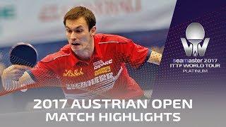 【動画】ステファン・フェゲル VS 閻安 2017シマスター2017 プラチナ、オーストリアオープン ベスト16