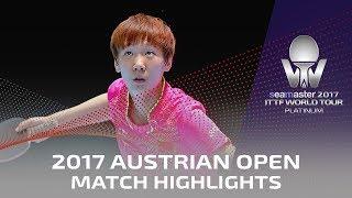 【動画】孫穎莎 VS 王曼昱 2017シマスター2017 プラチナ、オーストリアオープン 準決勝