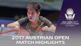 【動画】GU Ruochen VS GU Yuting 2017シマスター2017 プラチナ、オーストリアオープン 準決勝