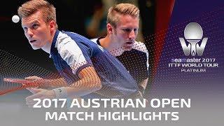 【動画】丹羽孝希・上田仁 VS フィルス・WALTHER Ricardo 2017シマスター2017 プラチナ、オーストリアオープン 決勝