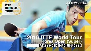 【動画】許昕 VS マツモト・カズオ 2016年韓国オープンベスト16