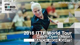 【動画】EKHOLM Matilda VS POTA Georgina 2016年チェコオープン ベスト16