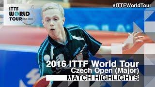 【動画】BADOWSKI Marek VS KIM Minhyeok 2016年チェコオープン