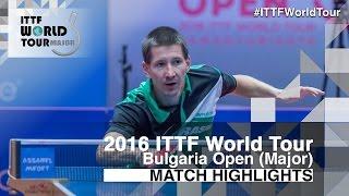 【動画】ROBINOT Quentin VS トーマス・コネッチニー 2016年-  Asarelブルガリアオープン 決勝