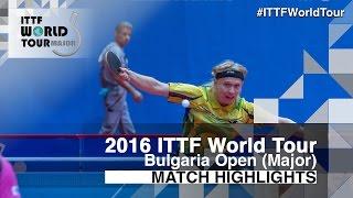 【動画】NIELSEN Claus VS 及川瑞基 2016年-  Asarelブルガリアオープン 準々決勝