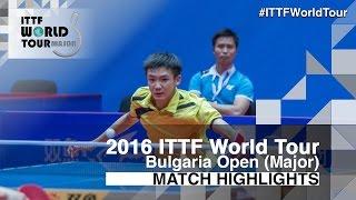 【動画】ROBINOT Quentin VS TSAI Chun-Yu 2016年-  Asarelブルガリアオープン ベスト32