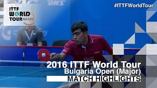 【動画】DESAI Harmeet VS TODOROV Stefan 2016年-  Asarelブルガリアオープン ベスト64
