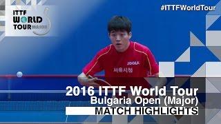 【動画】ALEXANDROV Teodor VS KIM Minho 2016年-  Asarelブルガリアオープン