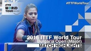 【動画】王意如 VS TENNISON Reeth 2016年-  Asarelブルガリアオープン