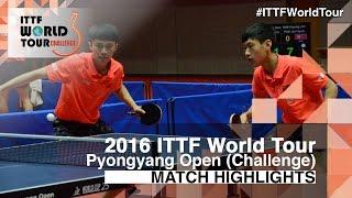 【動画】CAO Wei・XU Yingbin VS YANG Shuo・ZHAO Zhaoyan 2016年平壌オープン 決勝