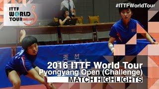 【動画】キム・ソンイ・リ・ミョンスン VS KIM Hye Song・RI Mi Gyong 2016年平壌オープン 決勝