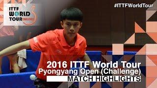 【動画】XU Yingbin VS ZHAO Zhaoyan 2016年平壌オープン 準決勝