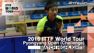 【動画】FAN Siqi VS キム・ソンイ 2016年平壌オープン 準決勝
