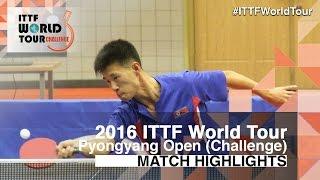 【動画】RI Kwangmyong VS ZHAO Zhaoyan 2016年平壌オープン