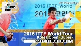 【動画】許昕・張継科 VS 鄭栄植・李尚洙 2016年韓国オープン 決勝