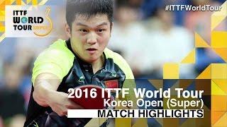 【動画】TSUBOI Gustavo VS 樊振東 2016年韓国オープン ベスト32