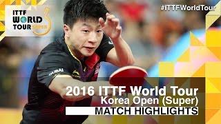 【動画】張禹珍 VS 馬龍 2016年韓国オープン ベスト32