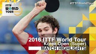 【動画】サムエル・ウォーカー VS 及川瑞基 2016年韓国オープン 準決勝