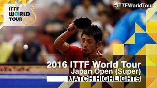 【動画】張継科 VS ブラディミル・サムソノフ 2016年ラオックスジャパンオープン準々決勝