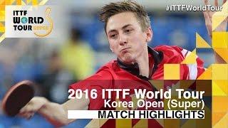 【動画】ピッチフォード VS LIM Jonghoon 2016年韓国オープン ベスト32