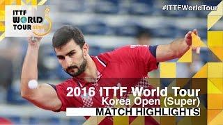 【動画】ガシナ VS HWANG Minha 2016年韓国オープン ベスト64