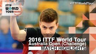 【動画】HACHARD Antoine VS 木造勇人 2016年全豪オープン 準々決勝