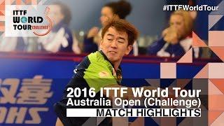 【動画】ヤン・ツー VS CHEN Feng 2016年全豪オープン 準々決勝