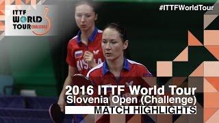 【動画】田志希・梁夏銀 VS ドルギフ・MIKHAILOVA Polina 2016年スロベニアオープン 決勝