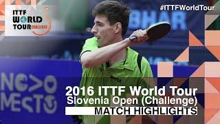 【動画】アダム・シューディー VS 張本智和 2016年スロベニアオープン ベスト16